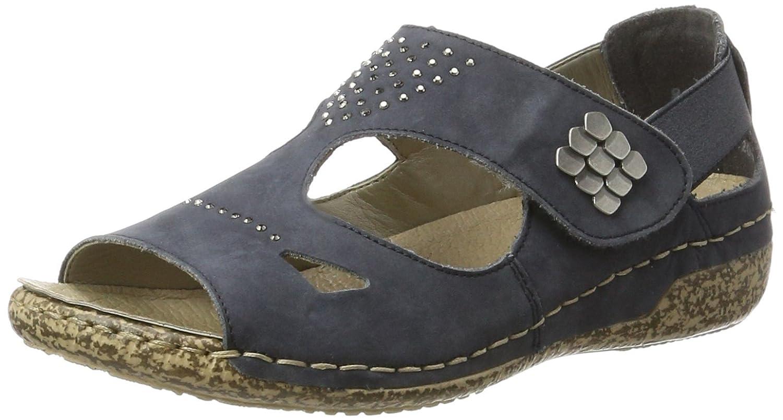 bluee Rieker women's Leather sandals