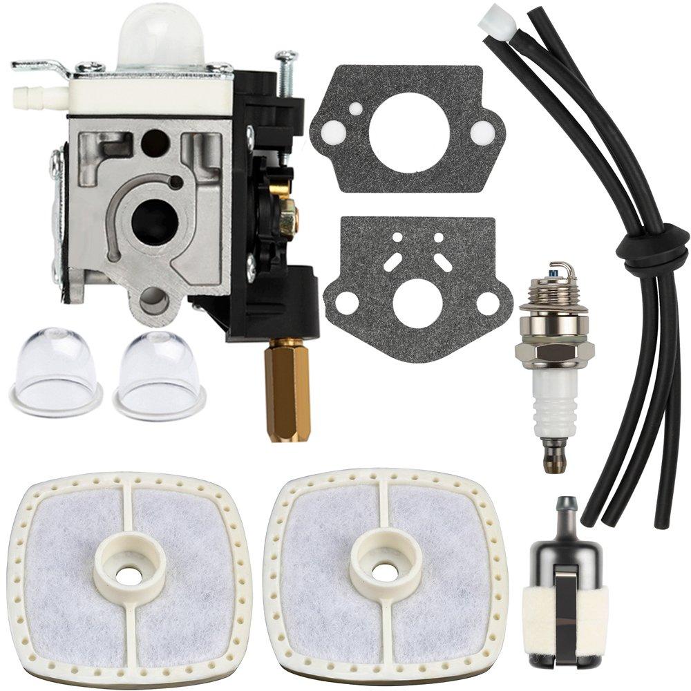 Dalom SRM 230 Carburetor w Air Filter Primer Bulb for Echo Trimmer SRM230 SRM231 GT230 GT231 PE230 PE231 PAS230 PAS231 PPT230 PPT231 Weed Eater Parts by Dalom