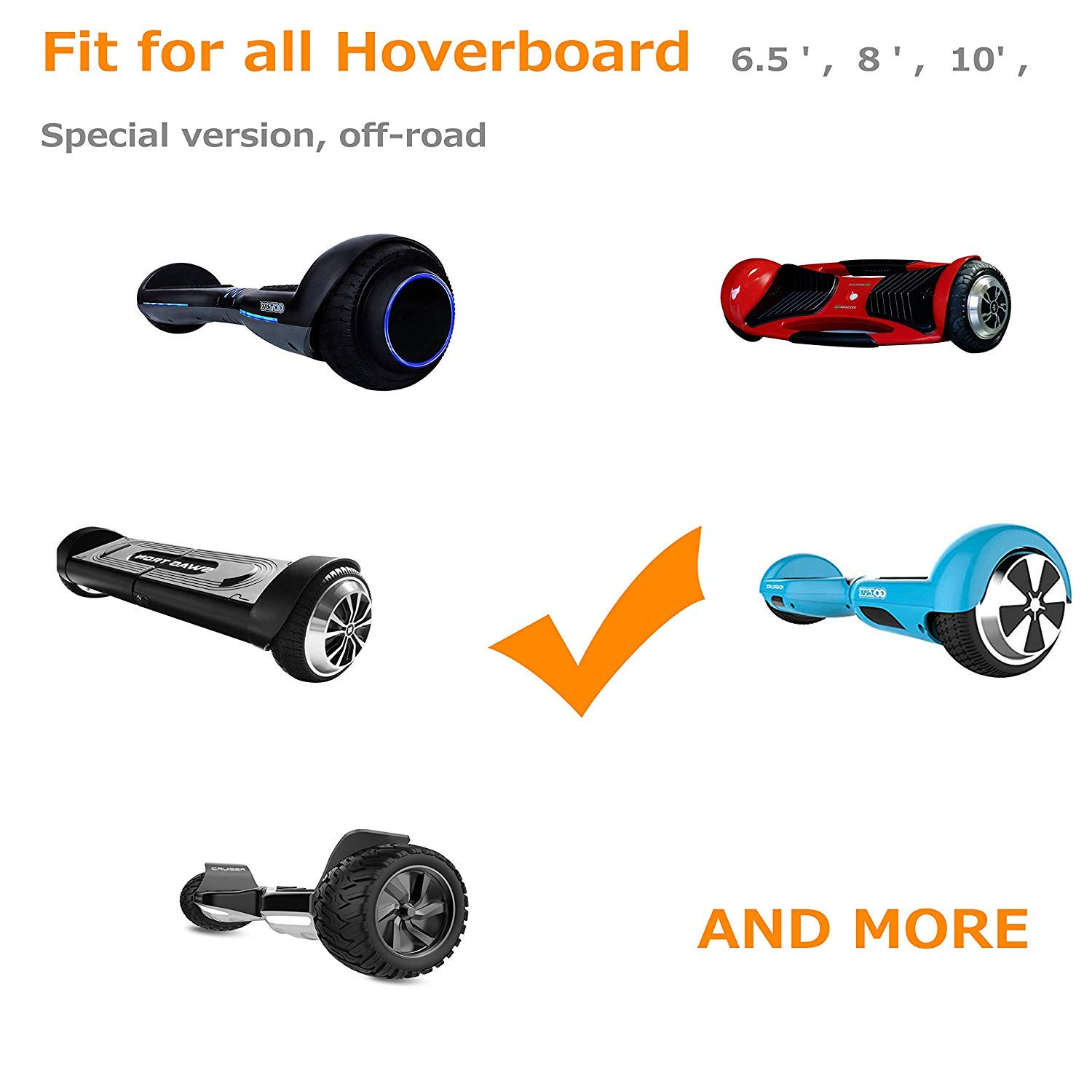 Go Kart for Hoverboard Kart Seat Accessories for Kids Hoverseat Two Wheels Go Car Style Holder for 6.5in 8in 10in