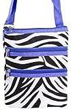 Purple Zebra Small Hipster Cross-Body Bag