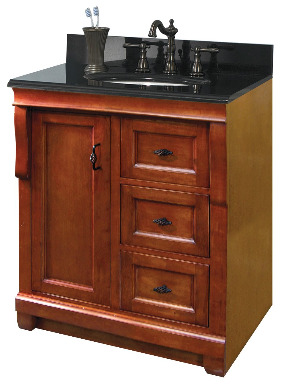 Pegasus naca3021d naples 30 inch vanity warm cinnamon 30 for Bathroom cabinets 30 inch