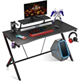 """Gaming Desk 40"""" with Monitor Shelf Gaming Table Home Computer Desk with Cup Holder and Headphone Hook Gamer Workstation…"""
