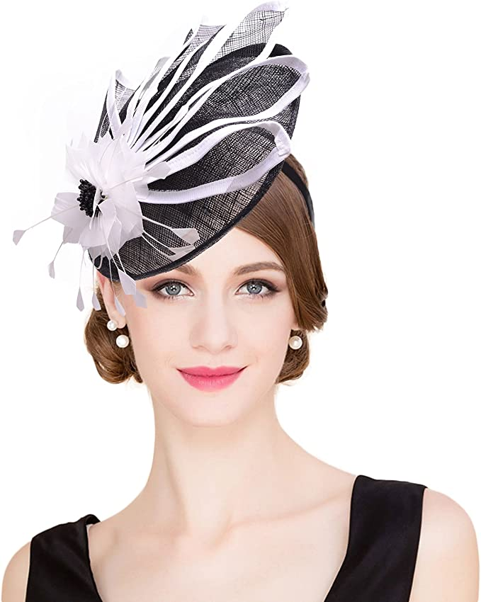 Dots Net Headband Fascinator Hat Alice band Wedding Ladies Day Race Royal Ascot