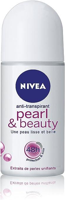 Nivea Desodorante Pearl & Beauty Roll-On para la Mujer 50 ml, 3 ...