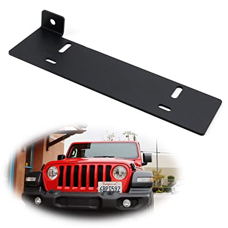 Amazon Com Ijdmtoy No Drill Required Front License Plate Mounting