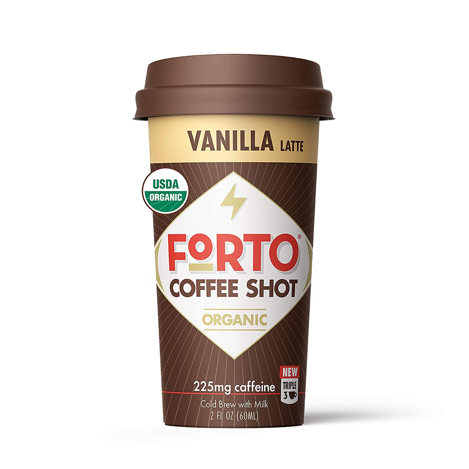 FORTO Coffee Shots - Vanilla Latte, Ready-to-Drink on the go, Cold Brew Coffee Shot - Fast Coffee Energy Boost, 2 Fl Oz, Pack of 6: Grocery & Gourmet Food