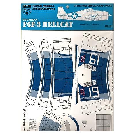 Amazon com : 1990 PMI Paper Models International Grumman F6F