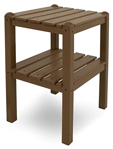POLYWOOD TWSTTE Two Shelf Side Table