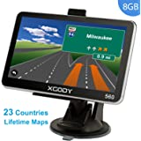 Xgody 5 Inch Car Truck GPS Navigation Sat Nav Touch Screen Built-in 4GB 128MB RAM FM MP3 MP4 Lifetime Map WinCE6.0