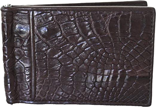 Alligator leather leather mens short wallet youth wallet male belly wallet