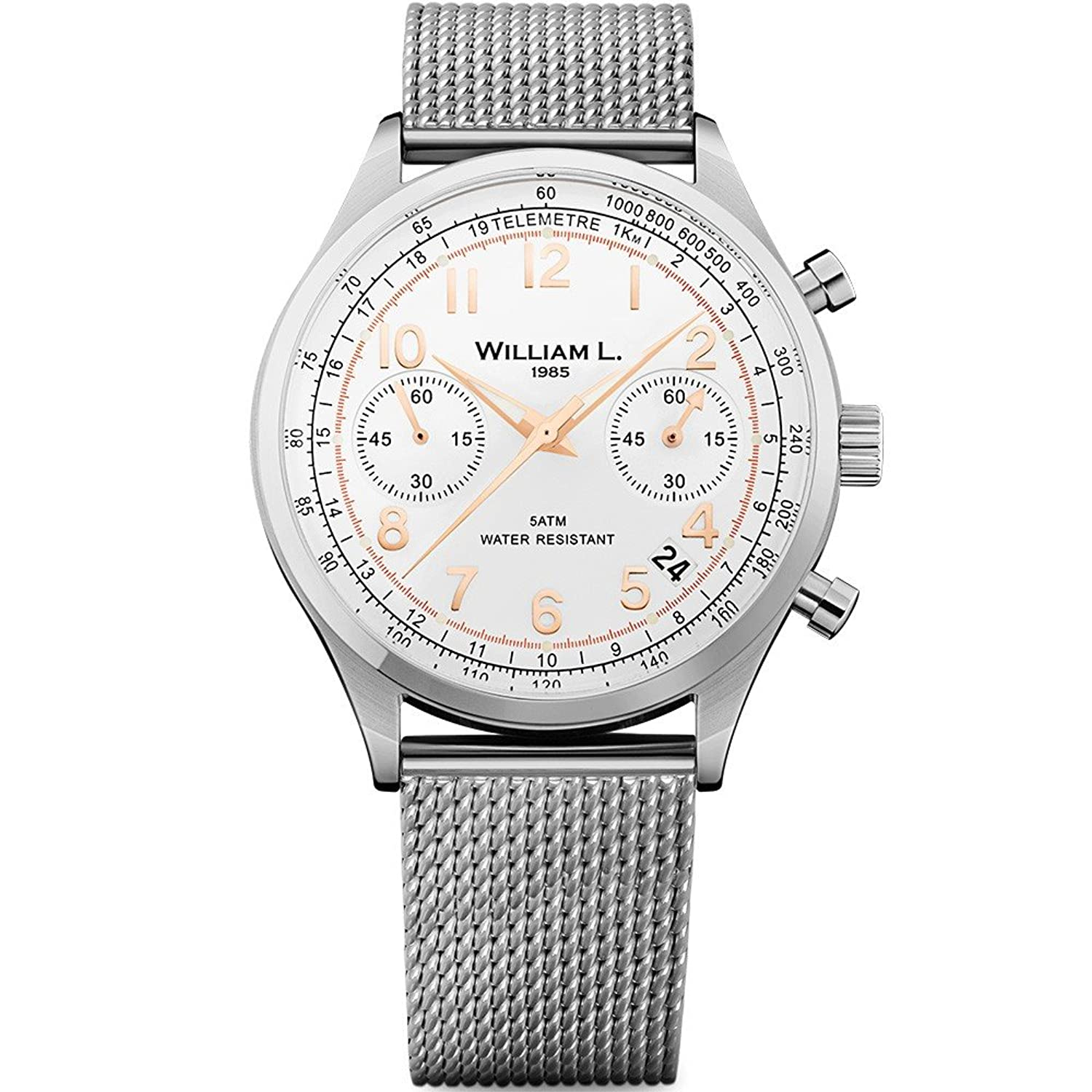 William L. Mens-Armbanduhr WLAC01BCORMM
