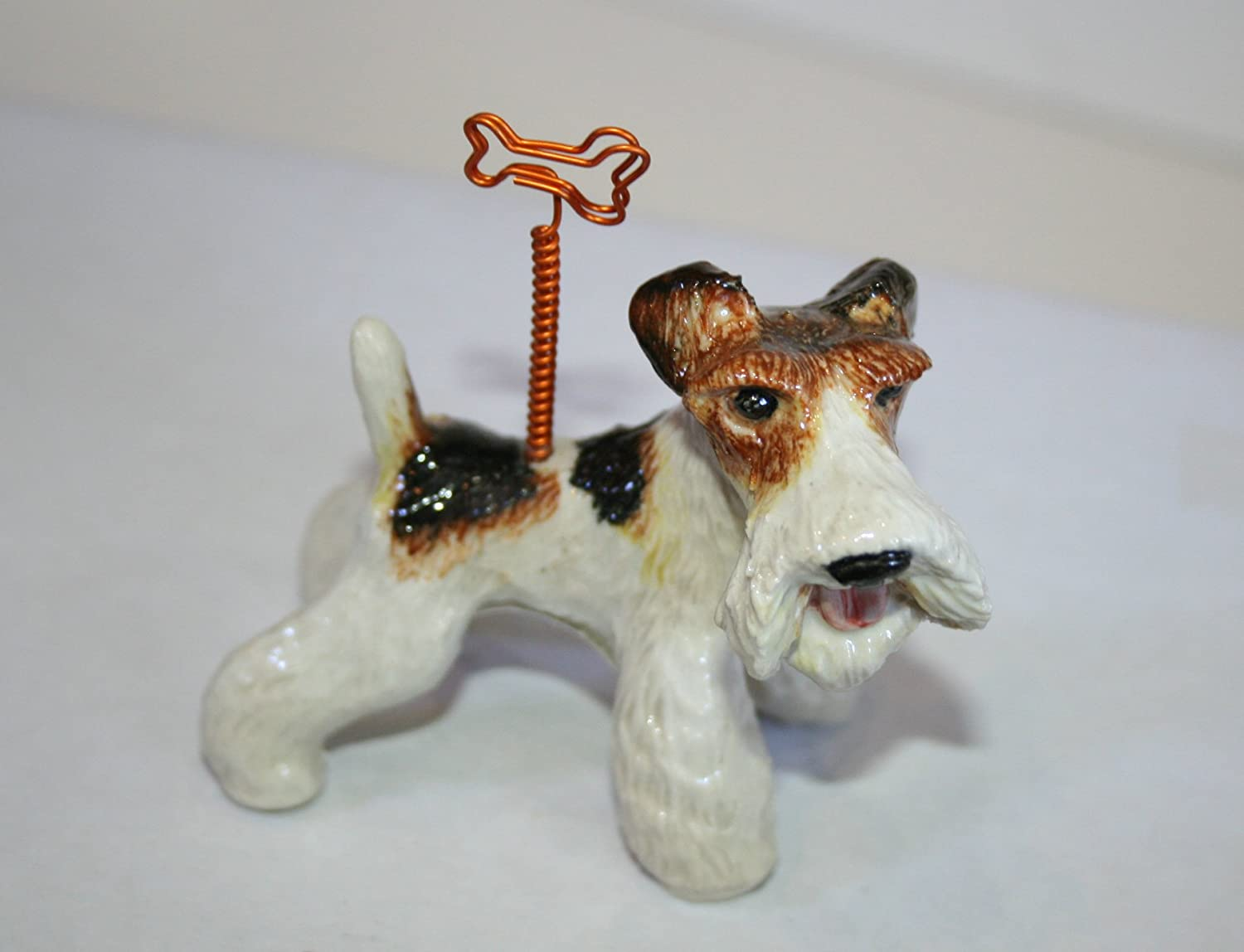 Amazon.com: Wire Fox Terrier Figurine: Kitchen & Dining