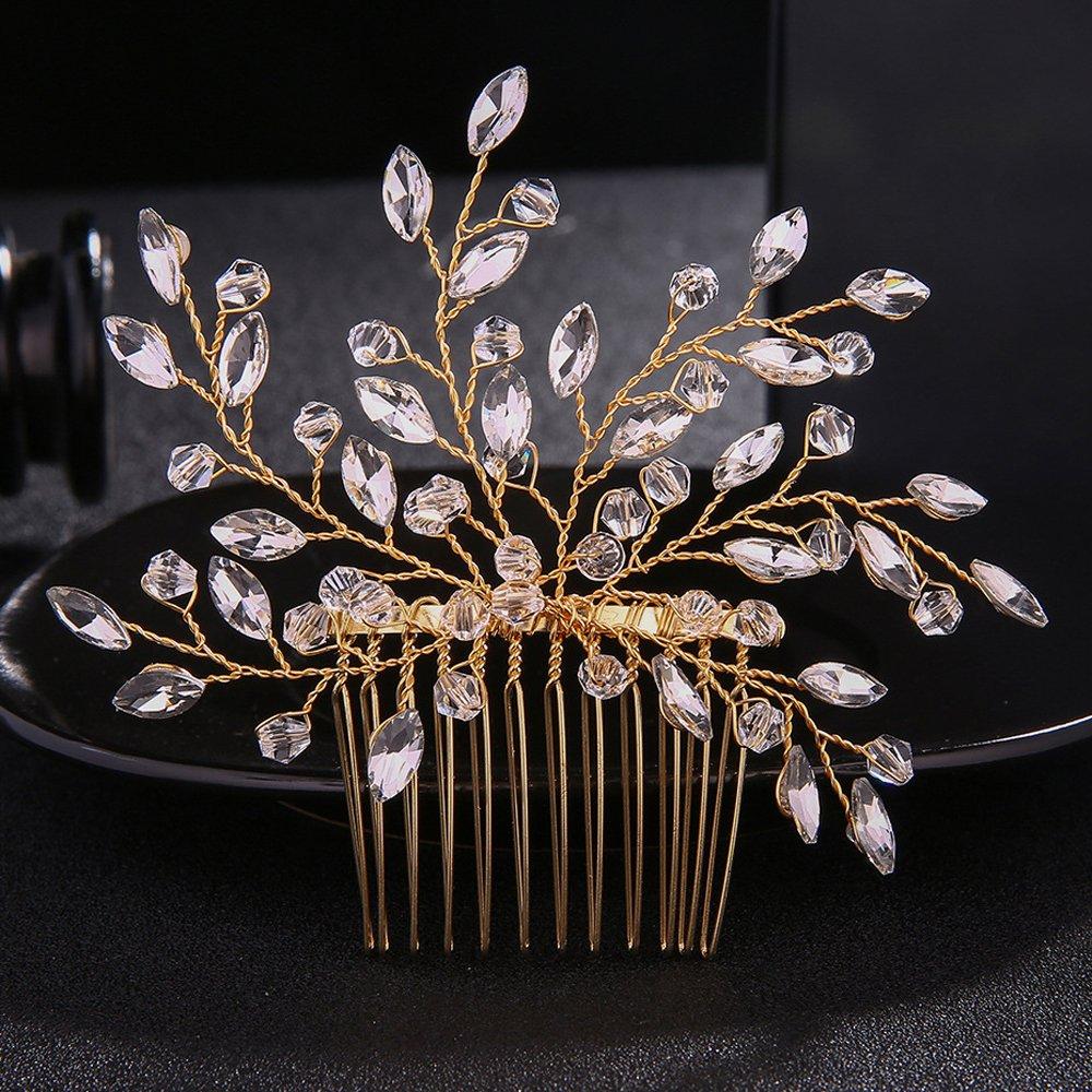 Fxmimior nuziale vintage con fiore pettine testa indossare ornamenti per capelli donne ragazza