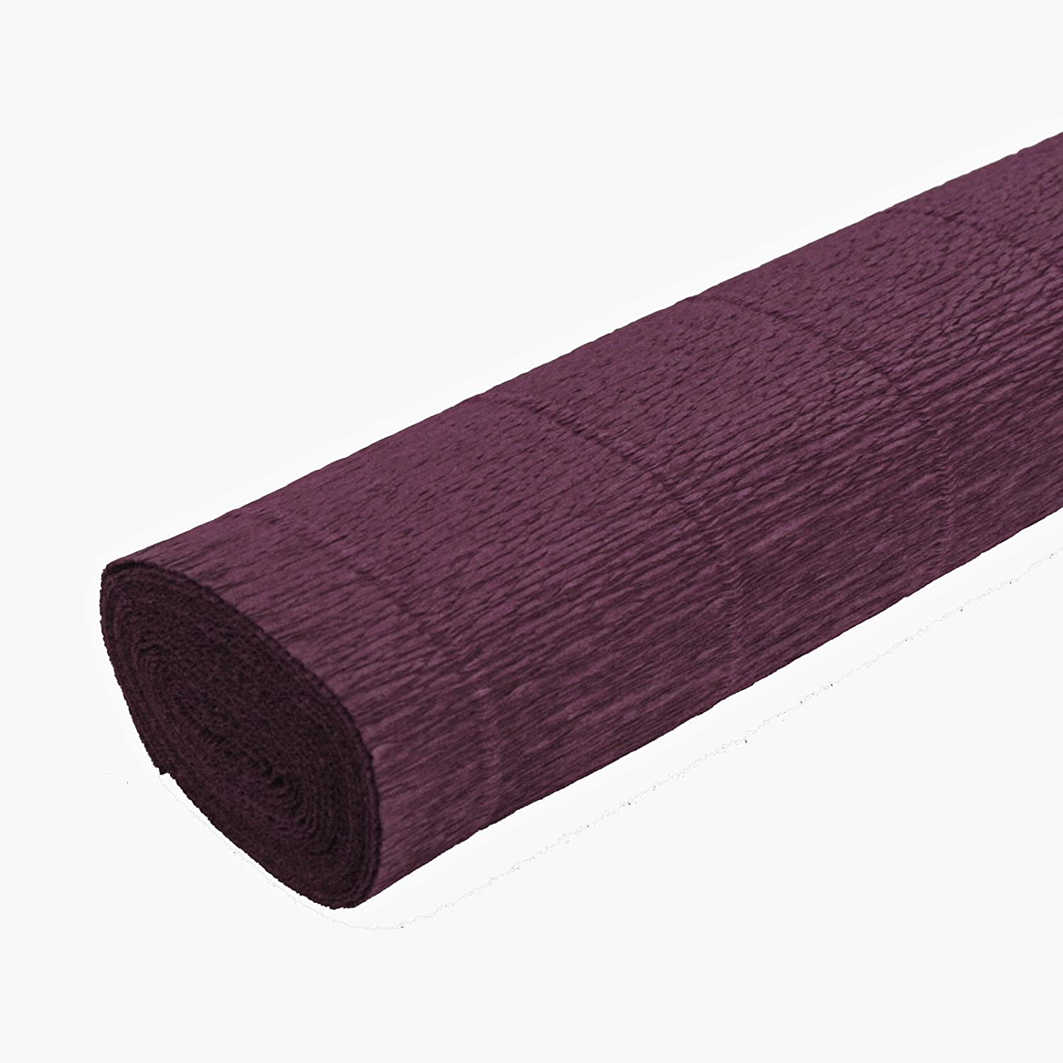 FloristryWarehouse Burgundy Wine Bordeaux 588 Crepe paper roll 20 inches wide x 8ft long. Top quality Italian paper craft Cartotecnica Rossi