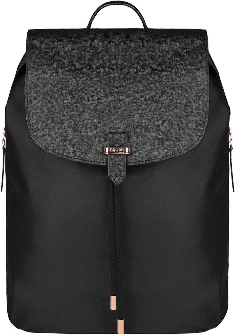 Lipault – Plume Avenue Backpack – 15 Laptop Over Shoulder Purse Bag for Women – Jet Black