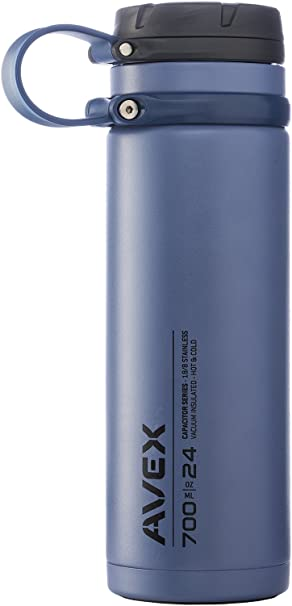 Fuse Wide Mouth Stainless Steel Water Bottle Stainless Steel Avex 40 oz