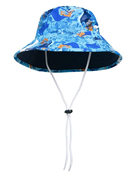 f6a6c2a92 SunBusters Boys Reversible Bucket Hat, UPF 50+ Sun Protection Sun Hat