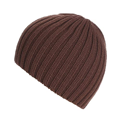 Zhuhaitf Alta calidad Adult Unisex Outdoor Autumn Winter Warm Soft Knitted Ski Hat Solid color
