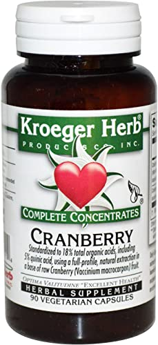 Kroeger Herb Co Complete Concentrates, Cranberry, 90 Vegetarian Capsules