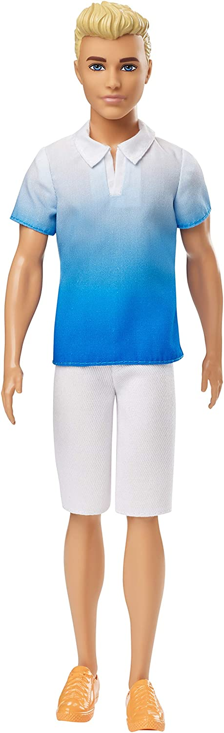 Barbie Ken Fashionistas Doll, Wearing Blue Ombre Shirt, for 3 to 8 Year Olds