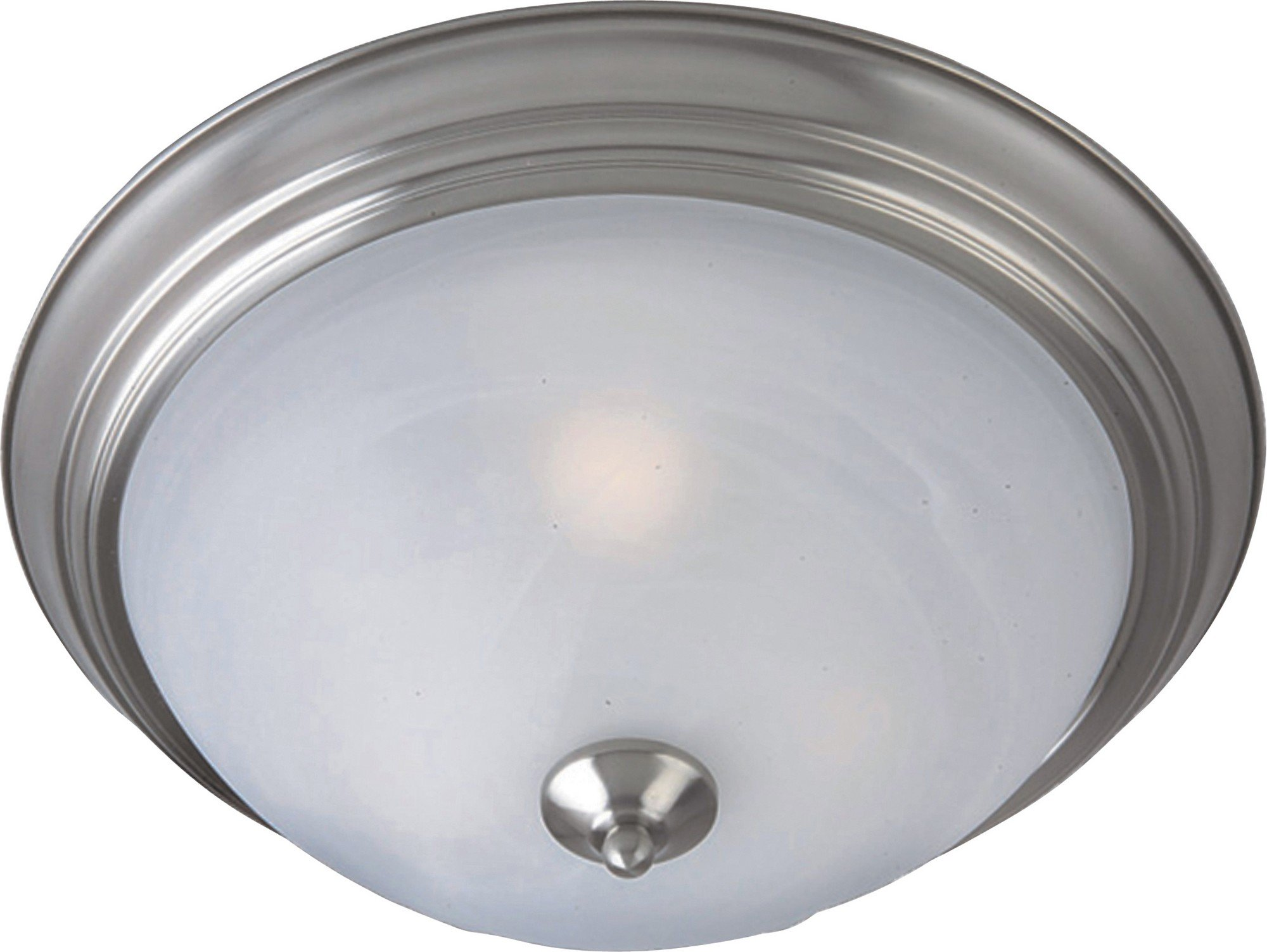 Maxim 1940MRSN Outdoor Essentials 1-Light Outdoor Ceiling Mount, Satin Nickel Finish, Marble Glass, MB Incandescent Incandescent Bulb , 100W Max., Damp Safety Rating, Standard Dimmable, Glass Shade Material, 4600 Rated Lumens
