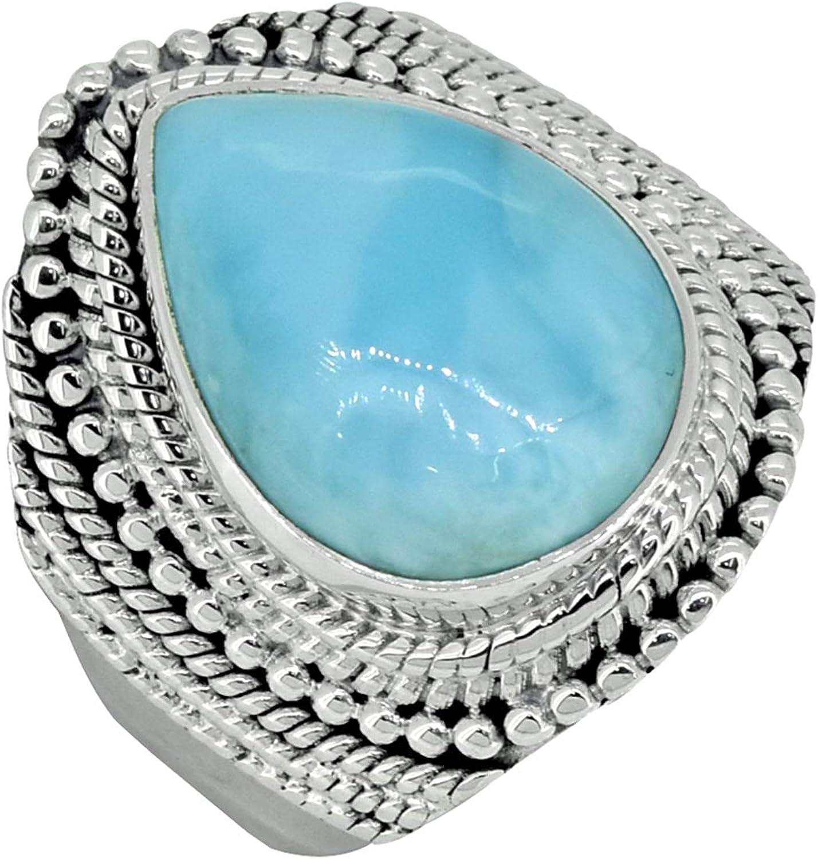 Naturel Larimar Gemstone Solide Argent Sterling 925 Designer Jewelry Boucles D/'oreilles