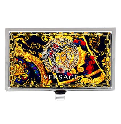 Amazon versace freestyle unique fashion business name card versace freestyle unique fashion business name card holder stainless steel case colourmoves