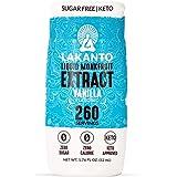 Lakanto Liquid Monkfruit Extract Sweetener, Zero Calorie Sugar Free Keto Drops, Vanilla Flavored Drops for Beverages (1…
