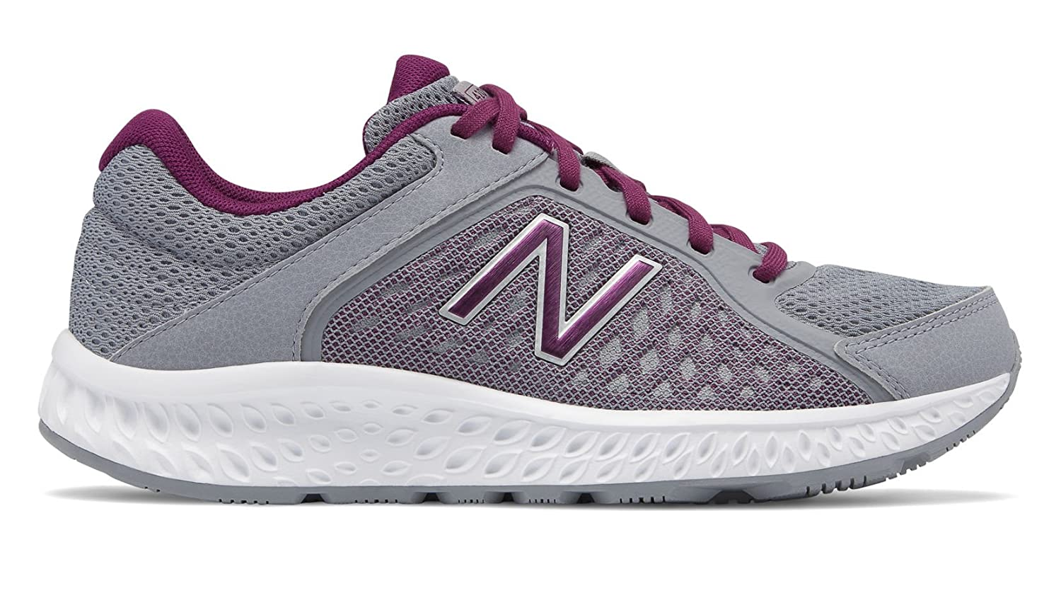 New Balance Women's 420v4 Cushioning Running Shoe B0791X9FWT 11 D US|Steel/Claret/Silver Metallic