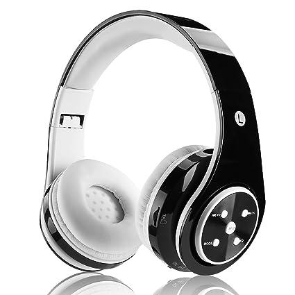 FTSM - Auriculares de diadema cerrado inalámbricos con bluetooth (recargables, plegables, micrófono integrado