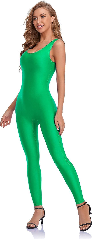 Choomomo Womens Spandex Sleeveless Nylon Tank Dance Unitard Bodysuit Jumpsuits