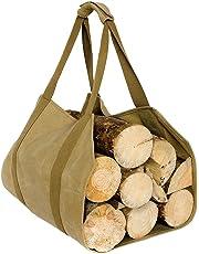 Case4Life Heavy Duty Water Resistant Waxed Canvas Firewood Log Carrier - Lifetime Warranty
