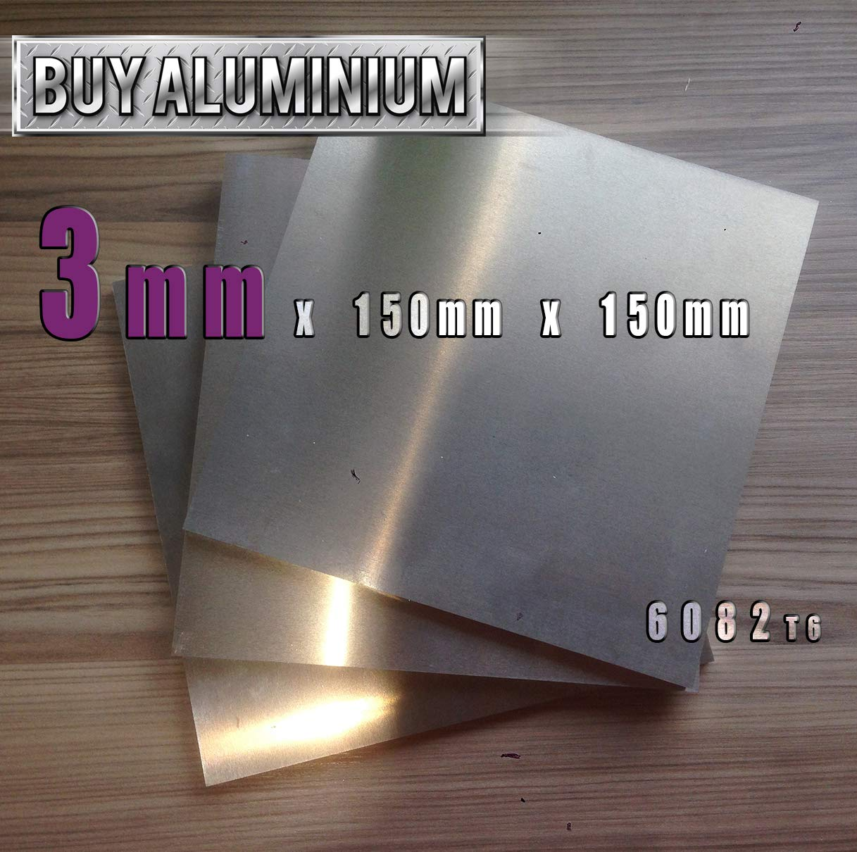 5083 150mm x 150mm Plaque en aluminium de 4 mm