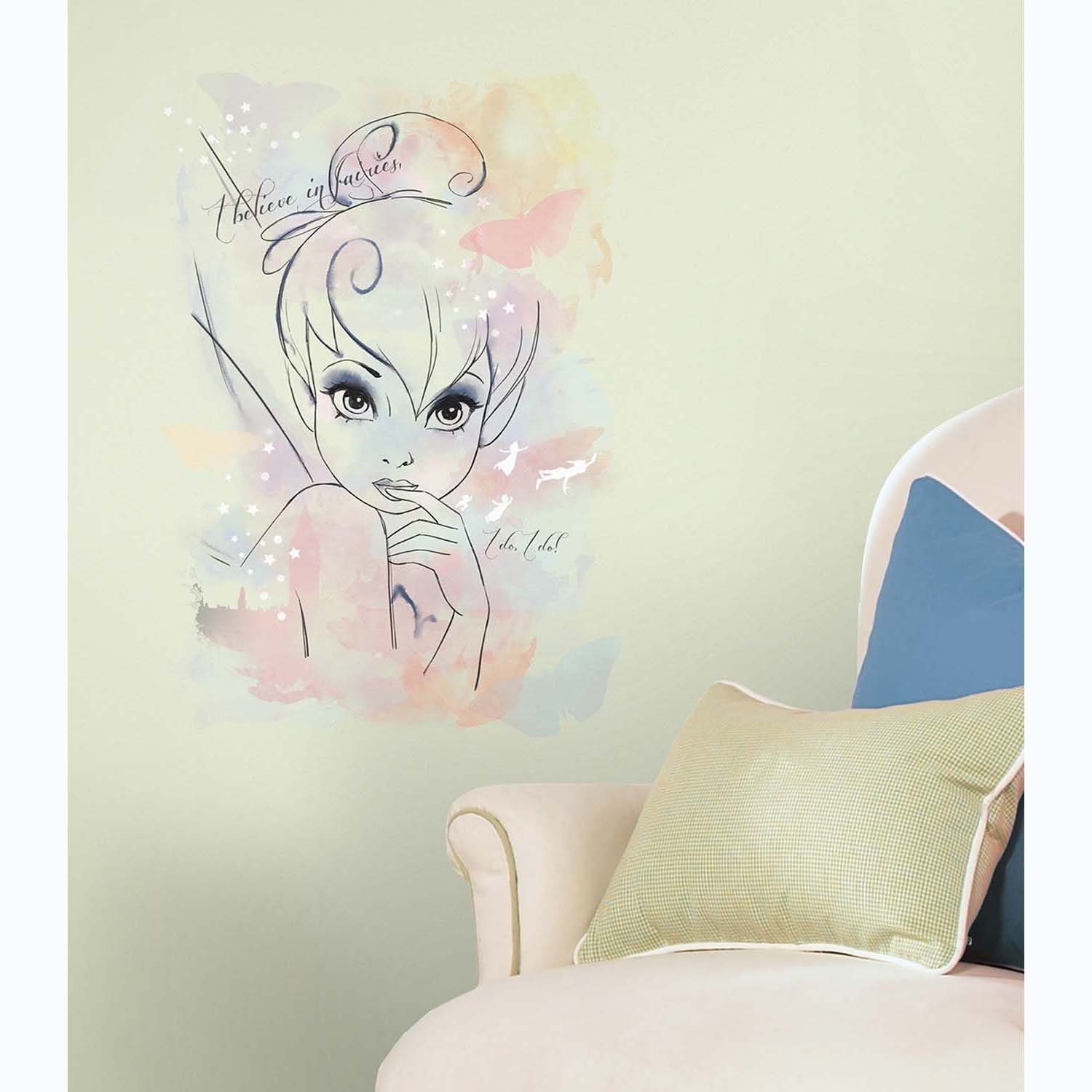 Stickers Disney Fee Clochette Xxl Géant Roommates Repositionnables