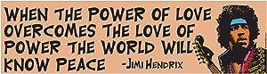 EvolveFISH Power of Love Bumper Sticker - [11