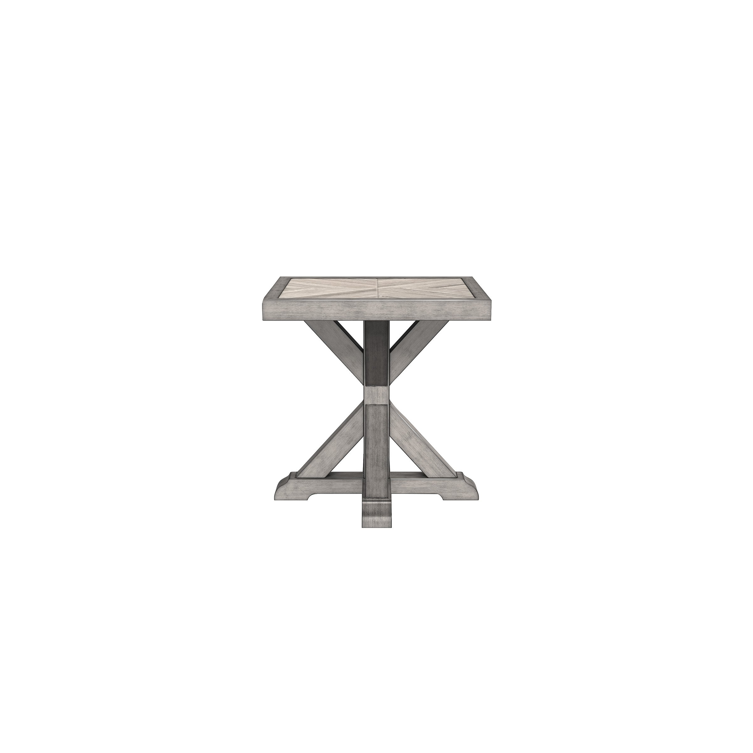 Signature Design by Ashley - Beachcroft Outdoor Square End ... on Beachcroft Beige Outdoor Living Room Set id=78698