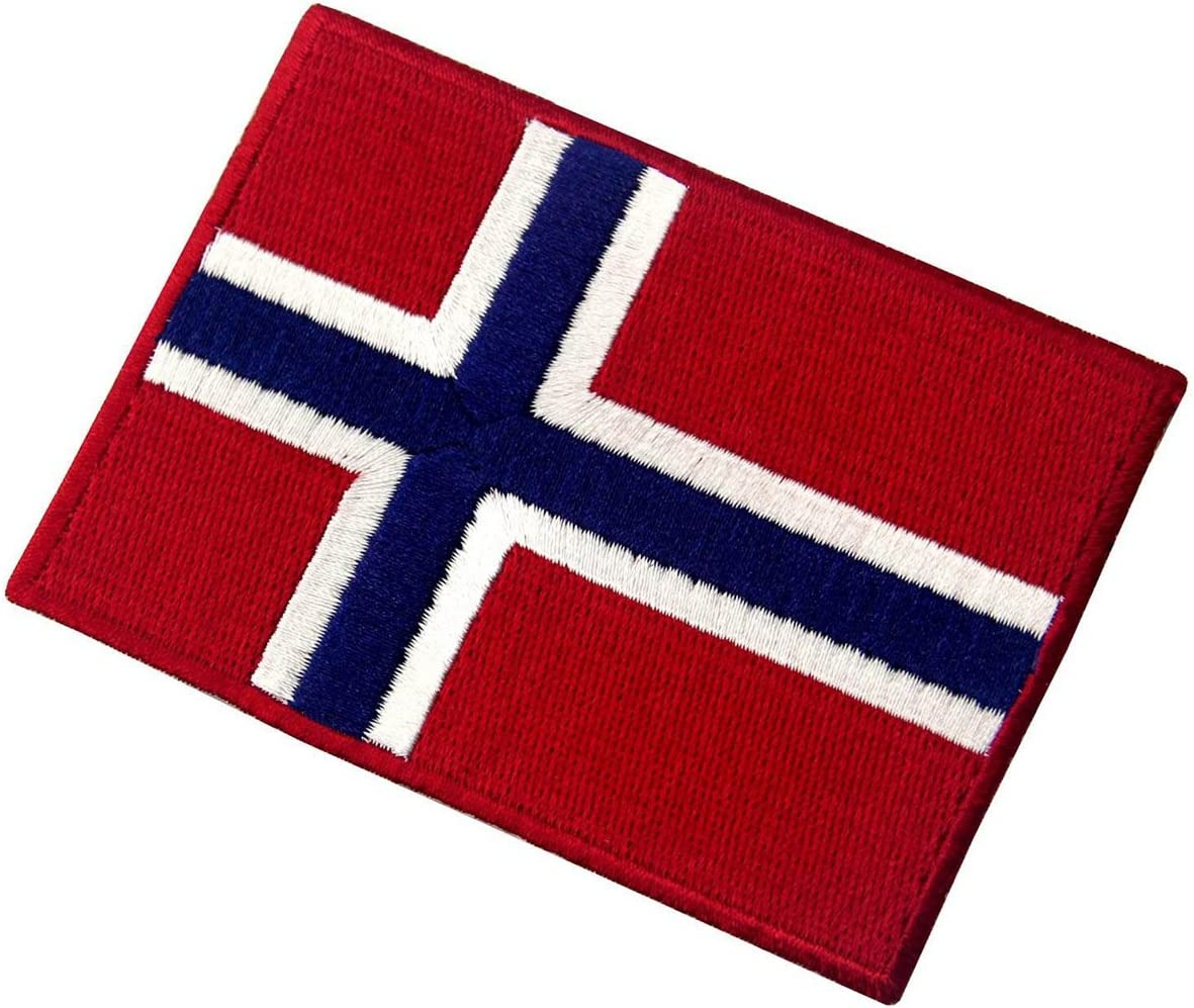 Bandiera Norge FLAG NORWAY NORVEGIA iron-on patch ricamate