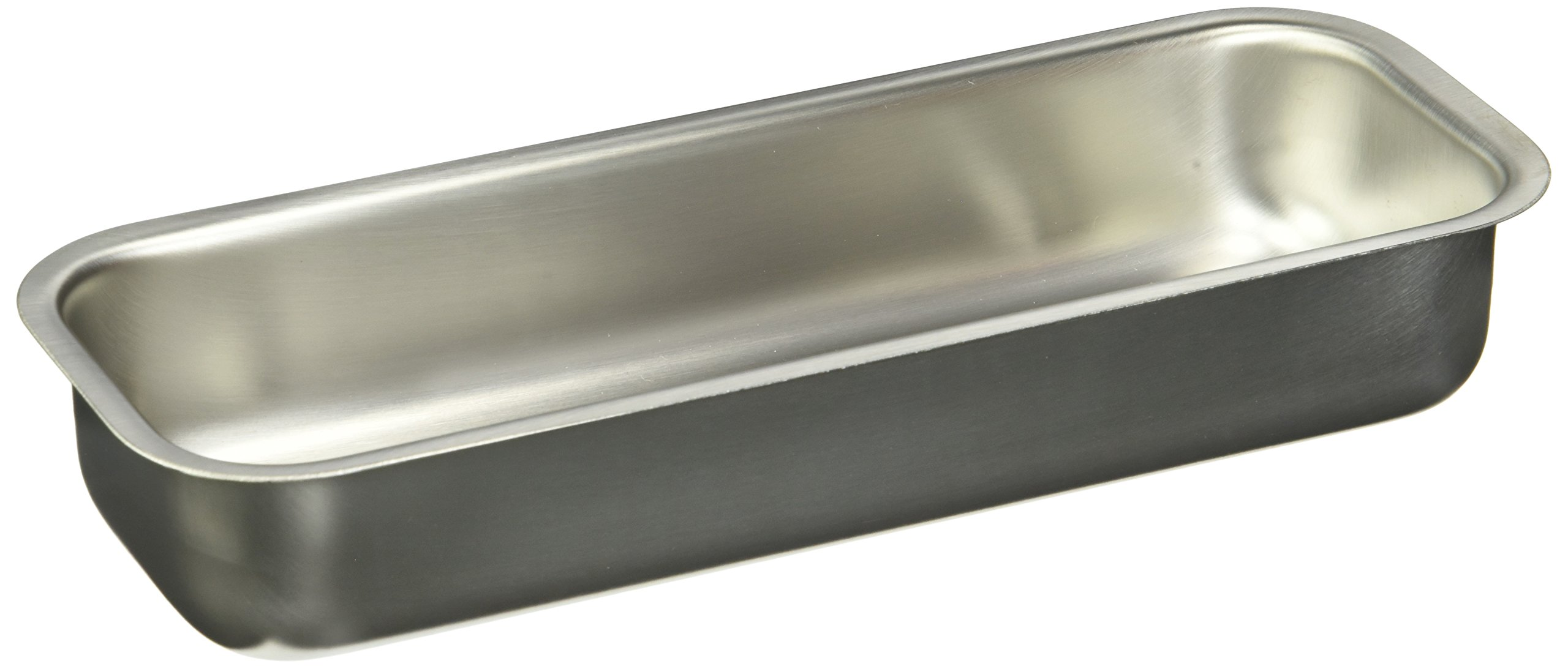 Polar Ware 83 Stainless Steel Catheter Tray, 8-3/4'' L x 3-1/4'' W x 1-1/2'' H