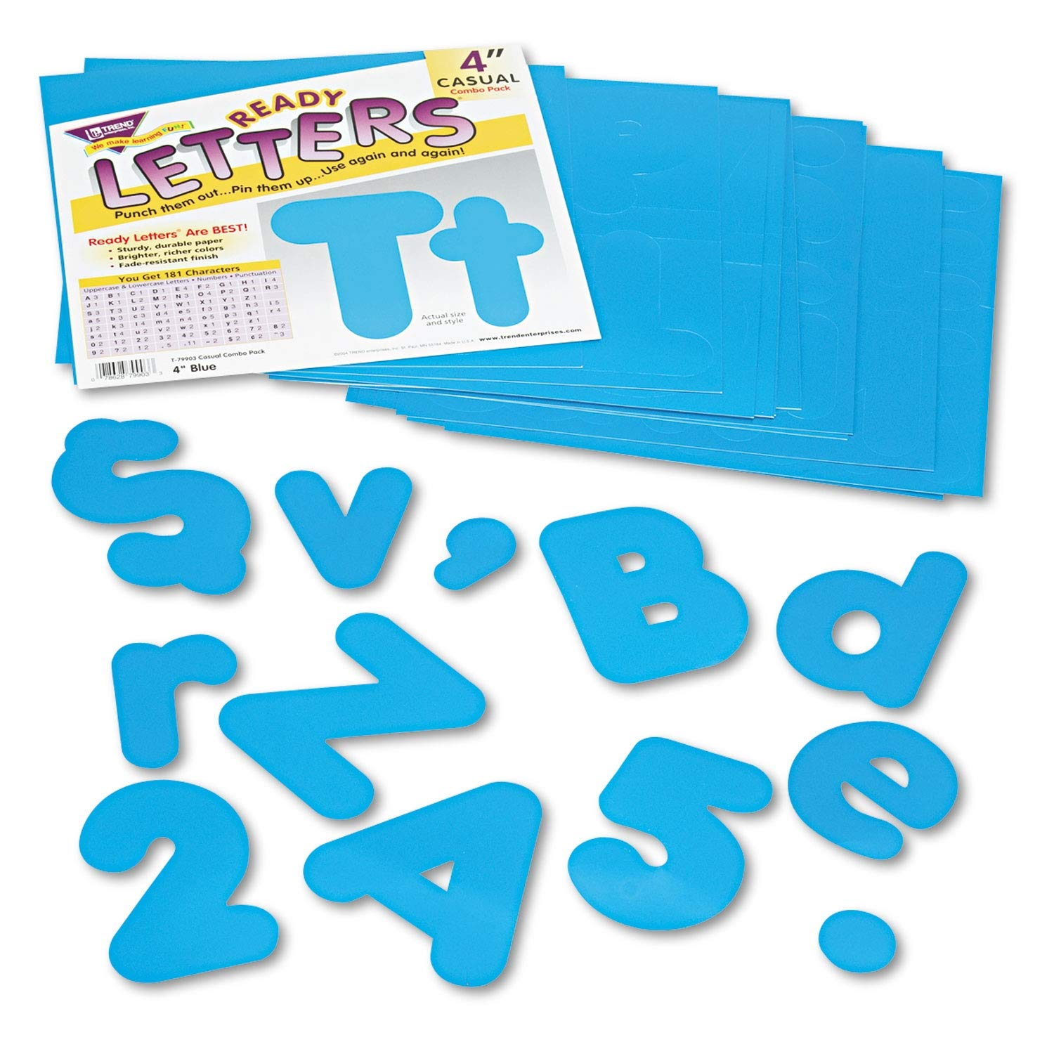 TREND Ready Letters Casual Combo Set, Blue, 4h, 182/Set - T79903 Pack of 2
