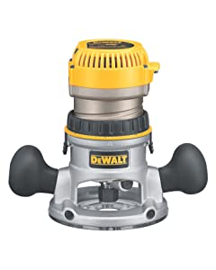 DEWALT DW618 2-1/4 HP Electronic Variable-Speed Fixed-Base Router
