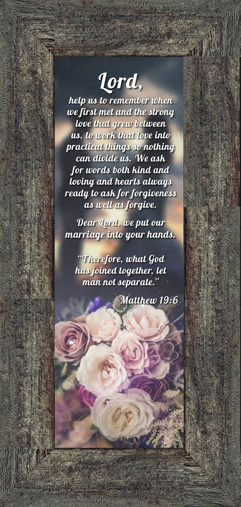 Marriage Prayer with Scripture, A Matthew Bible Verse, True Love Picture Frame, 6x12 7317BW