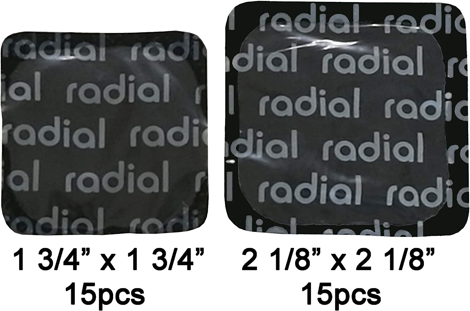 OV-10640 Harzole UP-S54B40 Tire Repair Patch Radial and Bias-Ply tire Repair Patch GraySquare 2-1//8 x 2-1//8 54 x 54mm 40pcs