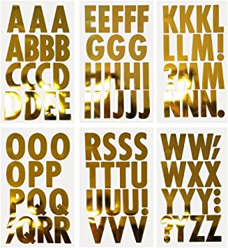 Homeford Big Font Alphabet Letter Stickers