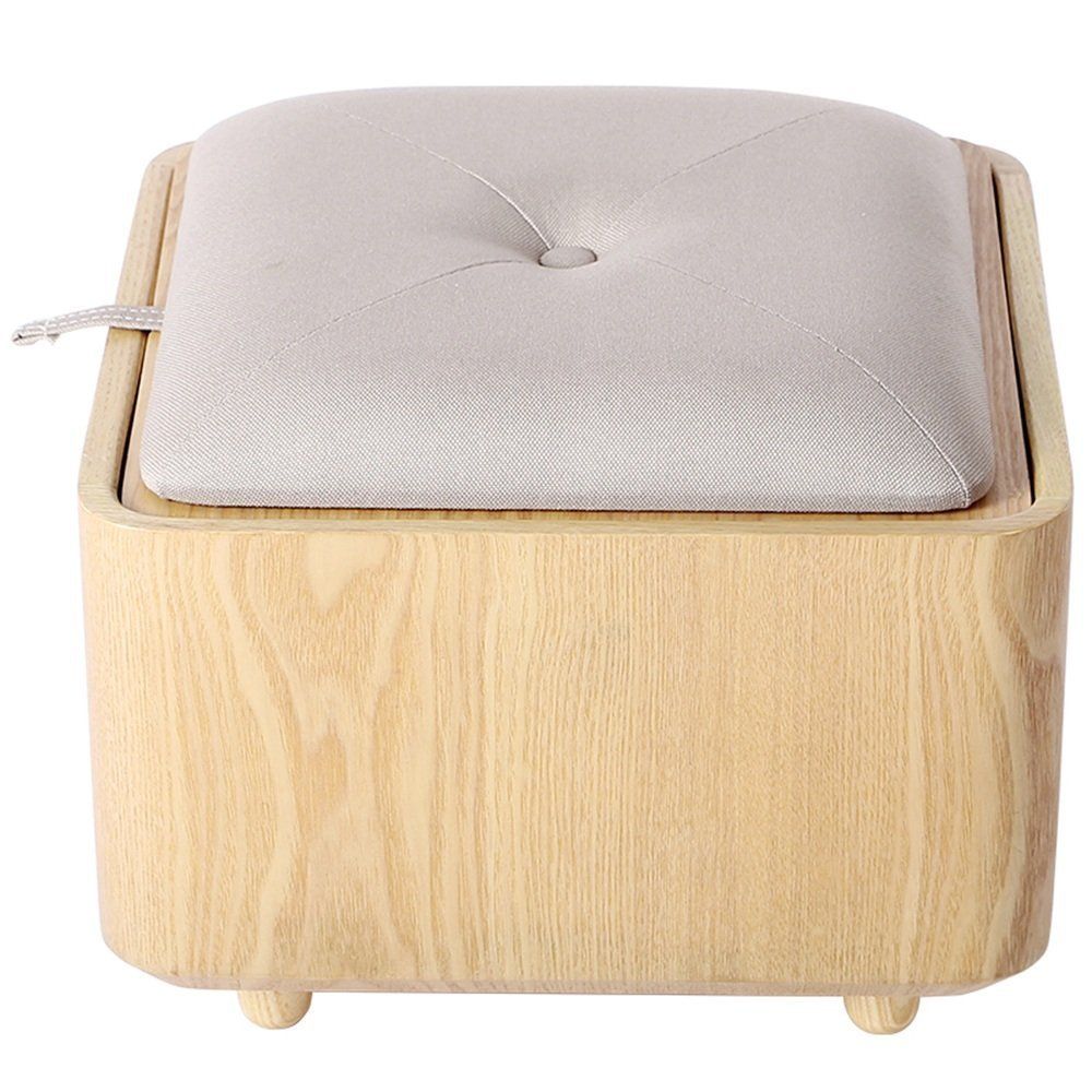 HOMEE Solid wood sofa stool creative simple storage stool multi-function toy storage stool can choose to change the shoe stool (multiple colors available),F