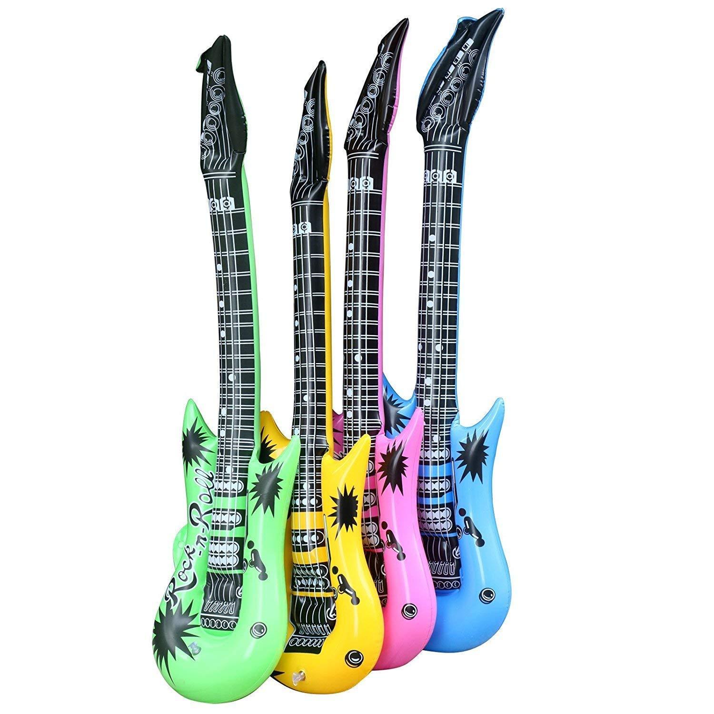 1 x Guitarra hinchable - Una Guitarra (incluido - color aleatorio ...