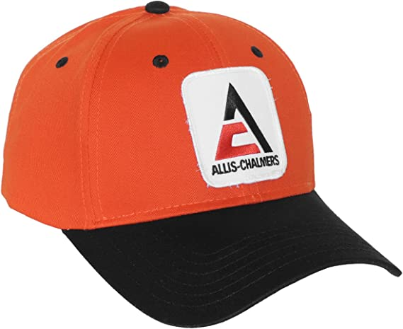 Cap Gift AC Fits Most Allis Chalmers Tractor 6 Panel Black Hat