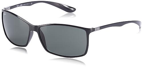 c2a76d5c1c2 Amazon.com  Ray-Ban Liteforce Rectangular Sunglasses Black 62 mm  Ray-Ban   Clothing