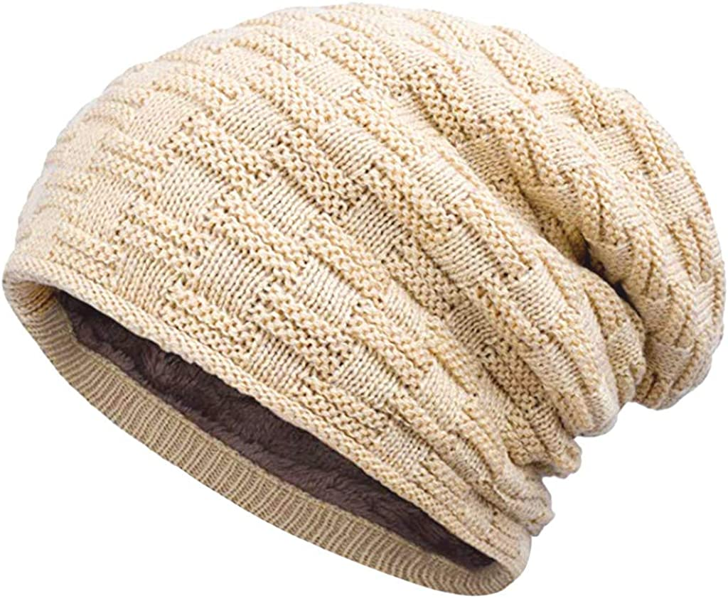 Winsummer Cable Knit Beanie Thick Soft Warm Chunky Skull Caps Knit Hats Beanie Hats for Women and Men