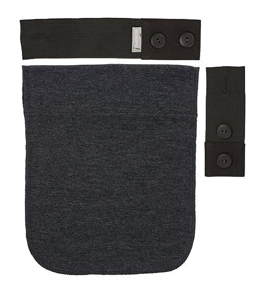Mama Kit Extensor cinturón de embarazo goma para pantalón gris 2 A 18 cm