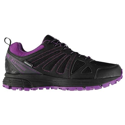 fab3adac1a4 Karrimor Mujer Caracal Zapatillas De Running Impermeable Negro/Violeta EU  38.5 (UK 5.5)